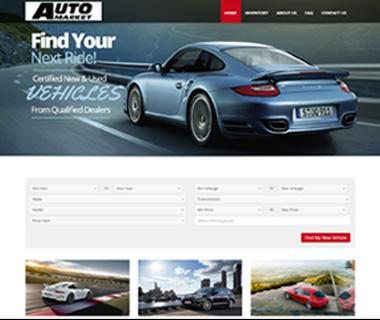 Web Design Auto Market of Long Island, NY