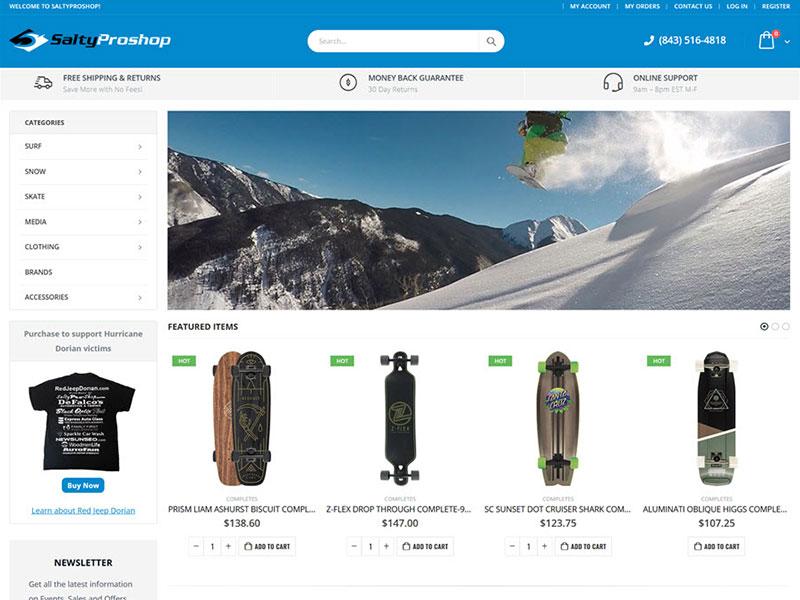 SaltyProShop.com - Surf, Skate & Snow