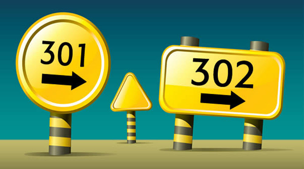 301 redirects or 302 redirects